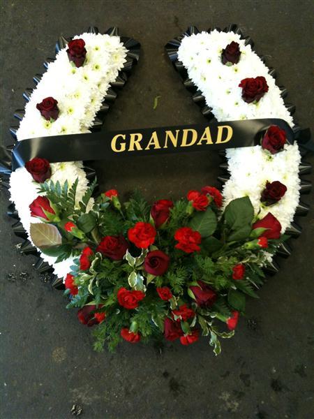 Horse Shoe Funeral Flowers Waterlooville